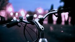 Violet ahead (Kot Orator) Tags: bicycle bike handlebar hokeh lamp saddle violet abstract helios helios44m poland poznan sony alfa a7ii