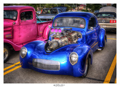 Pink and Blue (Pearce Levrais Photography) Tags: blue pink rod hot hotrod sport car sportscar sony a7r3 hdr thebestofhdr auto automobile racer racing racingcar racecar modified turbo engine chrome