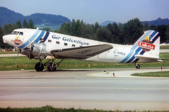 Air Atlantique Douglas DC-3 G-AMSV (gooneybird29) Tags: flugzeug flughafen aircraft airport airplane airline szg douglas dc3 airatlantique gamsv dakota