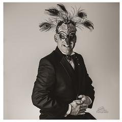 Brilliant! (_Matt_T_) Tags: smcpda55mmf14sdm selfie portrait autoportrait mask peacock af540fgz apolloorb43 disguise bw 365 westcott cactusv6 af360fgz dailyinjuly explore 2