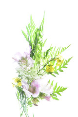Holly Hocks & Wild Things (Robin Penrose) Tags: 201907 highkey wild flowers hollyhocks lighttable card nature