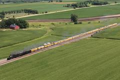Big Boy Stroll (R.G. Five) Tags: union pacific train railroad up steam big boy 4014 franklin grove il geneva sub locomotive