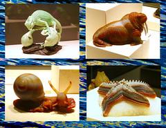 Life in Stone (M.P.N.texan) Tags: display art figurine handcarved handmade gerdreher houstonmuseumofbaturalsciences hmns houston texas agate