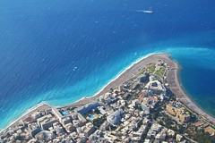 the land and the sea :) (green_lover (your COMMENTS are welcome!)) Tags: sea land rodos greece fromabove coast shore blue