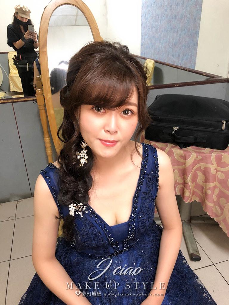 【新秘婕喬】bride玟儒 訂婚造型 / 南投野鴨谷餐廳