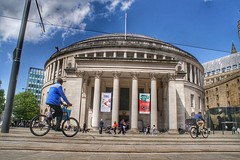 Manchester Central Library, St. Peters Square, Manchester (Gidzy) Tags: manchester library stpeterssquare central centrallibrary cyclists northwest england sony sonyuser sonyalpha sonya77ii sonyslt