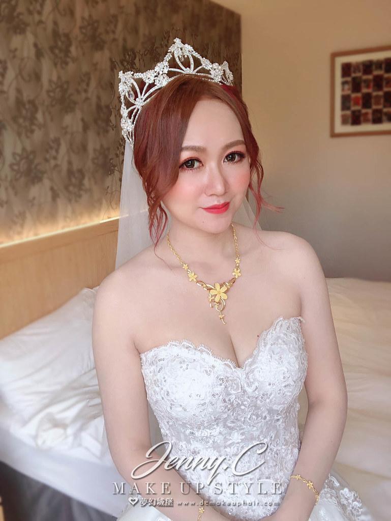 【新秘蓁妮】brid真真 結訂婚造型 / 台中好運來