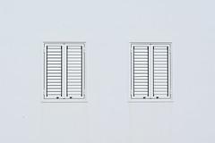 White windows, white wall (Jan van der Wolf) Tags: map194169vv white wit windows ramen gevel facade symmetry symmetric symmetrie simple simpel minimalism minimalistic minimalisme minimal minimlistic lanzarote