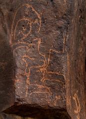 ancient rock art - wadi hassan, N of Azraq, Jordan 5 (Russell Scott Images) Tags: black basalt stony desert azraq jordan ancient rock art petroglyphs wadi hassan