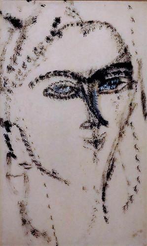 IMG_2091P Amedeo Modigliani 1884-1920 Paris  Tête de femme  Head of a woman 1915 Madrid Musée Thyssen Bornemisza