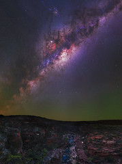 Milky Way at Z Bend in Kalbarri National Park, Western Australia (inefekt69) Tags: kalbarri national park zbend gorge canyon rock formation panorama stitched mosaic ms ice milkyway cosmology southern hemisphere cosmos western australia dslr long exposure rural night photography nikon stars astronomy space galaxy astrophotography outdoor core great rift ancient sky 35mm d5500 landscape nikkor prime lens ioptron skytracker river