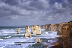 The Twelve Apostles (Bernd Schunack) Tags: 12 twelve apostles rock formation clouds storm stormy great ocean road australia port campbell national park victoria water pacific surf seascape tourist attraction panasonic lumix gx9