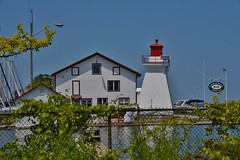 Niagara on the Lake Sailing Club, 10 Melville Street, Niagara on the Lake, ON (Snuffy) Tags: niagaraonthelakesailingclub niagaraonthelake ontario canada 10melvillestreet lighthouse musictomyeyes