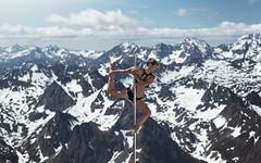 (dimitryroulland) Tags: nikon d750 85mm 18 dimitryroulland performer art artist natural light nature picdumidi snow pointe dance pole poledance poledancer dancer sky blue fitness