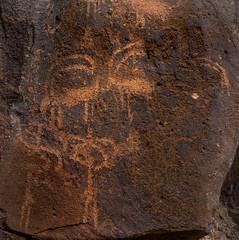 ancient rock art - wadi hassan, N of Azraq, Jordan 7 (Russell Scott Images) Tags: black basalt stony desert azraq jordan ancient rock art petroglyphs wadi hassan