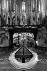 The crypt (Stefano Avolio) Tags: crypt cripta cathedral sainteulalia cattedrale barcellona bw blackwhite bn biancoenero stefanoavolio architecture architettura