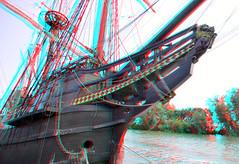 De Halve Maen VOC- replica Hoorn 3D (wim hoppenbrouwers) Tags: dehalvemaen vocreplica hoorn 3d anaglyph stereo redcyan ship boat boot