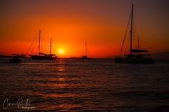 Sunset in Mykonos (corineouellet) Tags: nature landscape colorsplash details sailing boats composition sky sunrise sunset orange colors travel mykonos grece greece ocean sea beach