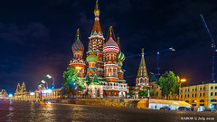 Moscow, Russia: St Basil's Cathedral, Red Square (nabobswims) Tags: cathedral church ilce6000 lightroom luminositymasks mirrorless moscow nabob nabobswims night nightfoto photoshop ru russia sel18105g sonya6000 stbasil