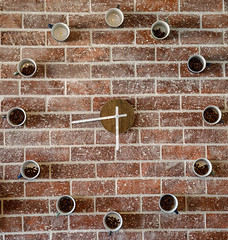 Time for coffee (Explored) (Johann (Still Me!)) Tags: wall wednesdaywalls mug coffeemug clock johanndejager ef24105mmf4lisiiusm canoneos5dmarkiv hww explored makemesmile coffeebeans