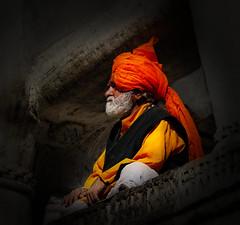 Sadhu in Udaipur (HWHawerkamp) Tags: india udaipur rajasthan sadhu turban portrait people travel colours