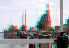 Hoofdtoren Hoorn 3D (wim hoppenbrouwers) Tags: anaglyph stereo redcyan hoofdtoren hoorn 3d