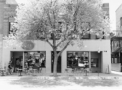 NOVA Café (LarsHolte) Tags: pentax 645 pentax645 645n 6x45 smcpentaxfa 75mm f28 120 film 120film analog analogue kosmo foto mono 100iso caffenolc mediumformat blackandwhite classicblackwhite bw monochrome filmforever filmphotography ishootfilm larsholte homeprocessing usa bozeman montana café building architecture