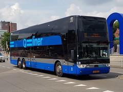 NLD Qbuzz 3693 ● Groningen Stationsweg (Roderik-D) Tags: qbuzz36913695 3693 vanhool groningenstation tdx27 astromega 2017 doubledeckerbus qliner300 gd2020 dieselbus doppeldeckerbus qliner ivu gorba 48bkd5