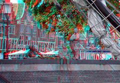 De scheepsjongens van Bontekoe  Hoorn 3D (wim hoppenbrouwers) Tags: haven hoorn 3d anaglyph stereo redcyan descheepsjongensvanbontekoe scheepsjongens bontekoe brons