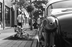 FRB No. 48 - Derev Pan 400 - Roll No. 2 (Kodak HC-110) (Alex Luyckx) Tags: milton ontario canada downtownmilton miltonchamberofcommerce historicaldowntown town urban evening car automobile classiccars musclecars hotrod filmreviewblog filmreview review media medium nikon f90 nikonf90 slr 135 35mm afnikkor50mm114d filmphotographyproject fpp derevpan400 derev pan400 asa400 kodak hc110 kodakhc110 dilutionb 131 nikoncoolscanved adobephotoshopcc bw blackwhite believeinfilm filmisalive filmisnotdead filmphotography film