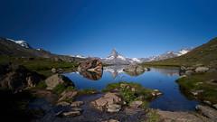 Stellisee (ivoräber) Tags: stellisee zermatt sony switzerland schweiz systemkamera swiss suisse lake mountain matterhorn alps