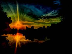 IMG_3681-Edit.jpg (Pejasar) Tags: sunrise artistic lakeminshall tulsa oklahoma art painterly digitalcreation iphone moving creation beginning new brilliant