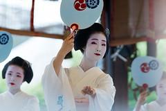 Dedication Dance (walkkyoto) Tags: festival 祇園祭 hanagasa 花傘巡行 maiko 舞妓 geiko 芸妓 kyoto 京都 japan 日本 ef200mmf28lusm