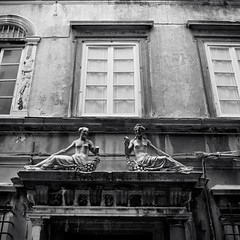 Genova (IG: Ceche_Analogico) Tags: monochrome street shadow bw sovietcamera arsat80mmf28 italy genova architecture bnw blackandwhite citycenter film 120mm kiev60 ilford hp5 mediumformat 6x6 analog filmisnotdead