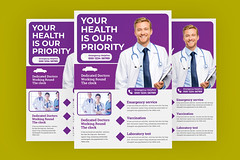 Medical Health Flyer Template (ProArtmind) Tags: agency body care clinic corporate customizable dental flyer health hospital human insurance medical medicine nurse post poster program promotion screening signage solution template test wellbeing