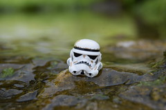 Object: - Stormtrooper Helmet. (Working hard for high quality and good work.) Tags: wars star helmet lego stormtrooper minifigure no focus water style substance world end