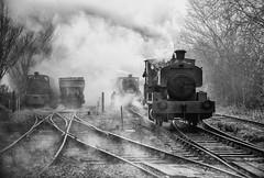 Fog on the Line (photofitzp) Tags: cottesmore fog mist railways rain russhilliercharters smoke steam industrial