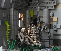 The Waiting. The insufferable waiting (captain_j03) Tags: summerjoust2019 toy spielzeug 365toyproject lego minifigure minifig moc ruin ruine skeleton skelett geist ghost chains