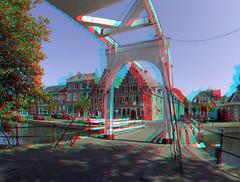Hoorn Westfriesland 3D GoPro (wim hoppenbrouwers) Tags: hoorn westfriesland 3d anaglyph stereo redcyan brug bridge canal gracht stad city