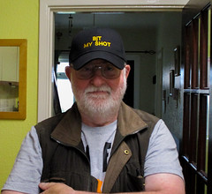 Got My New Hat  (BjT MY SHOT) (WorcesterBarry) Tags: lovecolour places portrait people photographers clothes smiles awesome embroidery logos myshot england adventure advertisement art worcester candid fun yellowlines