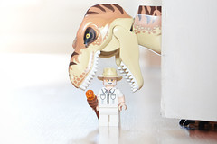 LEGO John Hammond Vs T-Rex (weeLEGOman) Tags: lego jurassic park john hammond trex vs minifigure minifigures toy macro photography uk nikon d7100 105mm rob robert trevissmith weelegoman