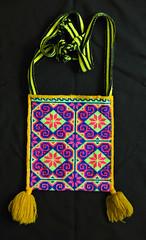 Huichol Embroidered Bag Morral Mexico Textiles (Teyacapan) Tags: huichol wixarika bolsa bags morral textiles mexican embroidery purse