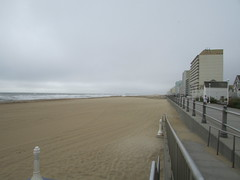 Barren Beach (Amazing-a2001) Tags: beach beaches water ocean oceanfront overcast cloud clouds cloudy waves storm hurricane empty emptyness gone gray grayskies city cityscape building buildings