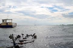 Immergés (Atreides59) Tags: bateau boat mer sea water eau ciel sky nuages clouds bleu blue blanc white holland hollande netherlands paysbas volendam pentax k30 k 30 pentaxart atreides atreides59 cedriclafrance