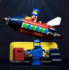 Like Father Like Son (Jezbags) Tags: like father son benny lego legos toy toys rocket macro macrophotography macrolego canon canon80d 80d 100mm macrodreams