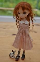 Followed by a bunny! (stashraider) Tags: ana salvador lisa resin ball jointed doll dress blumarinechild