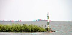 Hoorn IJsselmeer 3D (wim hoppenbrouwers) Tags: hoorn ijsselmeer 3d anaglyph stereo redcyan harbour water chacha d7000 nikon nikkor 18200