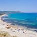 A view from Porto Giunco to the Tyrrhenian Sea, Sardinia, Italy