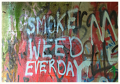 lifestyle advice (marneejill) Tags: grafitti marijuana smoke weed everyday bridge paint red
