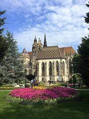 Košice, Slovakia (majka44) Tags: košice slovakia church tree park people 2019 flower light day grass green sky cloud nice atmosphere city architecture building